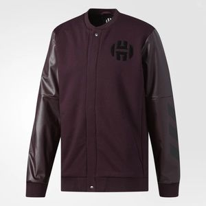 NWT Adidas Harden Varsity Jacket in Dark Burgundy